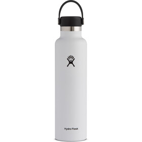Hydro Flask Standard Mouth Drinkfles met standaard Flex Cap 709ml, white